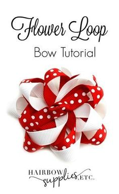 This video describes how to make a flower loop hair bow. This uses 3/8 inch ribbon, alligator clips, and needle and thread. It is a very versatile hair bow.