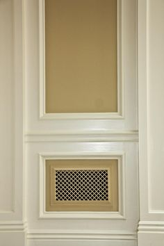 Eco-friendly resin decorative wall and ceiling vent covers. Easy do-it-yourself installation makes upgrading your home décor practically effortless. great for dog kennel and air vents Interior Trim, Interior Design Living Room, Air Return Vent Cover, Wall Vent Covers, Radiator Cover, Radiator Screen, Panel Moulding, Painting Trim, Wall Decor