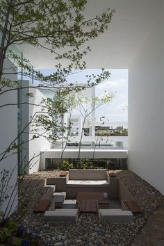 A stunning Japanese residence called Cosmic House by Japanese architecture firm UID blurs the boundaries between interior and exterior spaces with a series of both open and enclosed structures and floor-to-ceiling glazing. Japanese Architecture, Contemporary Architecture, Amazing Architecture, Architecture Details, Landscape Architecture, Interior Architecture, Landscape Design, Japanese Home Design, Japanese House