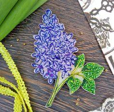 Брошь Сирень от sorokashop. Brooch Lilac from sorokashop. Ручная работа. Handmade.