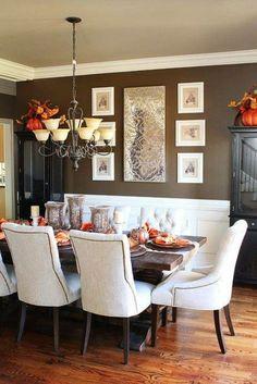 Rustikale Deko   59 Beispiele Für Rustikale Dekoration Und Behaglichkeit Im  Innendesign. Dinning Room Wall DecorDining ...
