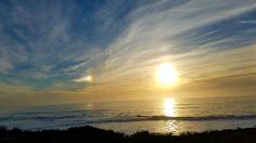 Moonstone Beach at sunset