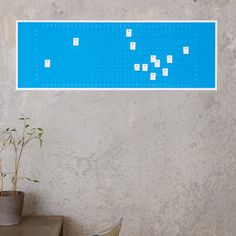 A convenient Anniversary, Birthdays & other important dates year wall calendar with post-its by Populaere Produkte.