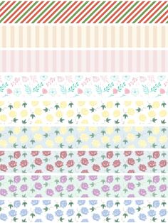Homemade Stickers, Diy Stickers, Printable Stickers, Journal Stickers, Scrapbook Stickers, Planner Stickers, Tapas, Wash Tape, Vintage Flowers Wallpaper