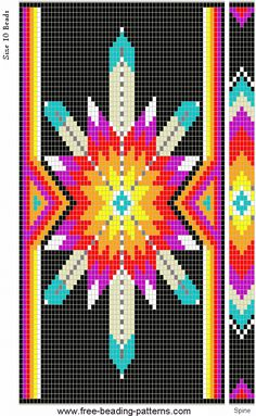 Lakota Star loom pattern