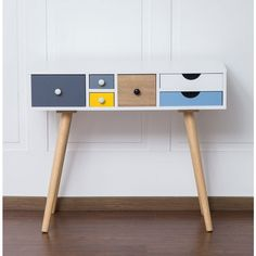 Retro Mid Patchwork Console Table