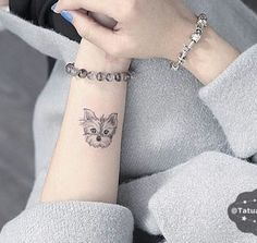 Imagem de dog, tattoo, and woman