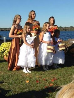 Flower girls and bridesmaid's!  :)