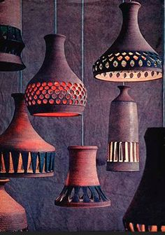 ceramic lamps-- must do as soon as I learn to throw thin-walled vessels #Pottery #Art