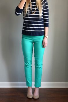 March 2016 Stitch Fix Review: Margaret M Emer Printed Straight Leg Pant  www.pearlsandsportsbras.com 