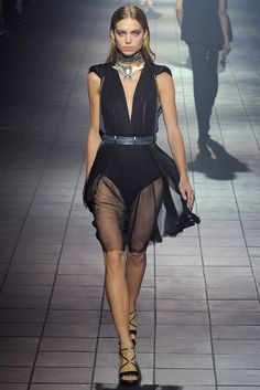 Lanvin RTW S/S 2012.  Model - Emily Senko.