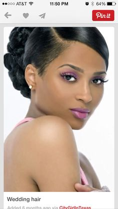 Top 10 Bridal Makeup Ideas For Black Women for Stunning Look Loading. Top 10 Bridal Makeup Ideas For Black Women for Stunning Look Bridal Hairstyles African American, African Hairstyles, Afro Hairstyles, Hollywood Hairstyles, Layered Hairstyles, Vintage Hairstyles, Trendy Hairstyles, Black Wedding Hairstyles, Black Women Hairstyles