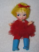 1969 Betty Ballerina Finger Ding Doll W/Boots By Remco