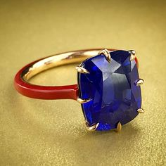 Sapphire Ring by Taffin, photo by @kremkow