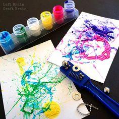Five Minute Craft: Magnet Painting - Left Brain Craft Brain Kindergarten Science Activities, Art Activities For Toddlers, Painting Activities, Creative Activities, Preschool Art, Nursery Activities, Steam Activities, Motor Activities, Creative Play