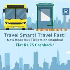 Flat Rs.75 Cashback on Bus Ticket Booking