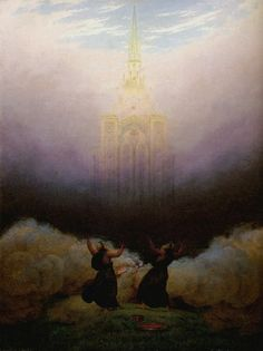Caspar David Friedrich»Vision of the Christian Church, 1814