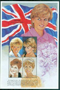 Dominica 1997 Princess Diana in Memoriam, Goodbye England's Rose MS MUH