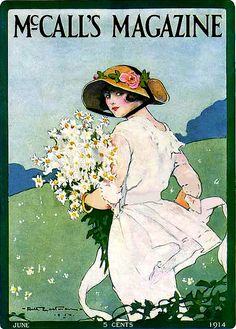 Picking Posies--McCall's Magazine-1914, Ruth Eastman, cover artist
