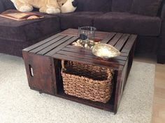 Crate Coffee Table Small Design