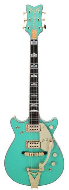 Gretsch Masterbuilt Penguin Double Cutaway Custom Shop Foam Green | Rainbow Guitars
