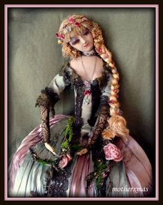 https://flic.kr/p/JsNe1X | AO French Rosalinde Boudoir doll | I  call  this  Roasalinde Ophelia  because  of  all  the   flowers  and  greenery in  her  costume. She  is  all  original and  in amazing condition for  her  age.  The  doll resembles  a Rosalinde that  is  pictured in an old  deco  postcard.