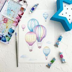 "Gefällt 1,447 Mal, 21 Kommentare - Watercolor Art  (@svetlanaeremeeva_art) auf Instagram: ""А я всё летаю в облаках☁️ не снимая розовых очков #акварель #watercolor #aquarelle #painting…"""