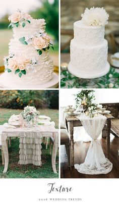 From cakes to invitations, 2016 is seeing the trend of textured items in weddings. What would you have textured in your wedding?