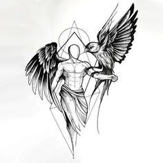 Sketch style angel with owl tattoo design tattoo sketch art, tattoo design drawings, tatto Bild Tattoos, Body Art Tattoos, New Tattoos, Tattoos For Guys, Sleeve Tattoos, Cool Tattoos, Amazing Tattoos, Pretty Tattoos, Beautiful Tattoos