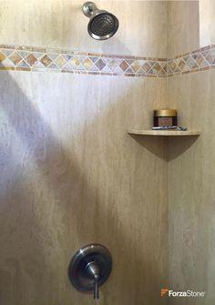 ingenious ivory vein cut travertine. ForzaStone natural slab stone in ivory vein cut travertine a remodeled  shower White Carrara bathroom countertop Forza Shower Bath