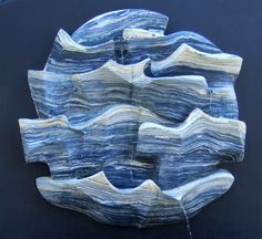 """""""Ocean"""" by Juan Ramón Gimeno - Ceramic mural fountain Ø4 feet- Private collection Soquel CA Stoneware, Turquoise, Color, Artists, Art, Painted Canvas, Sculptures, Green Turquoise, Colour"""
