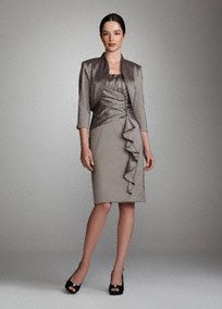 2-Piece Ruched Taffeta Dress with Jacket --I like this one too -