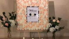 DIY- Wedding welcome sign DIY- Frame Stand Diy- wedding decor Wedding Hall Decorations, Balloon Decorations Party, Wedding Centerpieces, Wedding Frames, Wedding Signs, Our Wedding, Diy Wedding Welcome Sign, Frame Stand, Deco Floral