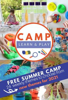 Summer Camp At Home - get your FREE Summer Activity Plans - No Time For Flash Cards