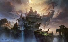 Fantasy Worlds by Ming Fan | Cruzine