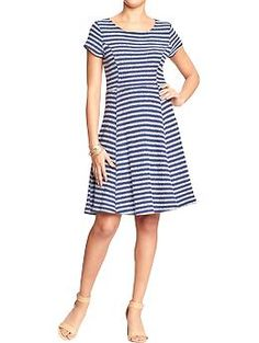 Womens Striped Terry-Fleece Dresses- My new dress