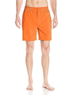 Robert Graham Mens Starboard Woven Swim Trunk Orange 34 * Be sure to check out this awesome product.
