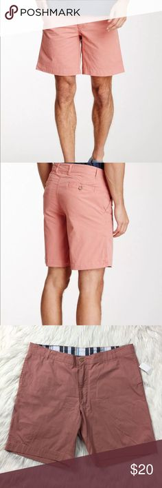 """•• Stoned Washed & Beaten • Salmon Cotton Shorts Classic WSB shorts in brand new condition with all tags attached . Perfect length for spring, summer, and fall activities. Features 4 pockets. They are the """"classic length"""" and hit right around the knee area on most people. Check measurements for the perfect fit.  Measurements (Approx.) Laying Flat Waist: 20"""" Length: 19.5"""" Inseam: 9""""  *Comes from a pet free and smoke free home* (LLR2-0343) Washed Stoned & Beaten Shorts Flat Front"""