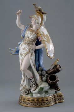 Goddess of Peace. Meissen porcelain factory. About 1772. Porcelain overglaze painting and gilded. The Hermitage Museum