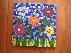 multi flower mosaic ceramic paver