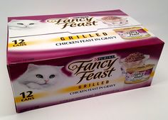 Purina Fancy Feast Grilled Chicken Canned Cat Food, One Carton with (12) 3oz cans > Additional details found at the image link  : Cat food