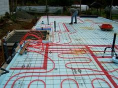 Picture of Continue Laying Out the Entire Space. Lake House Plans, Cabin Floor Plans, Hydronic Radiant Floor Heating, Water Heating Systems, Shed Floor, Large Sheds, Radiant Heat, Concrete Floors, Outdoor Blanket