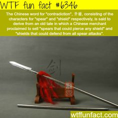 Contradiction in Chinese - WTF fun facts