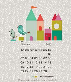 Free Printable Calendar February 2015