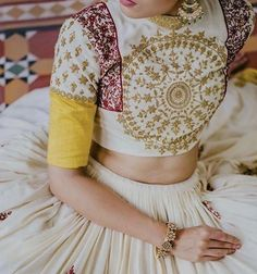 Latest Collection of Lehenga Choli Designs in the gallery. Lehenga Designs from India's Top Online Shopping Sites. Choli Blouse Design, Blouse Designs Silk, Choli Designs, Lehenga Designs, Dress Designs, Mehndi Designs, Red Lehenga, Lehenga Choli, Sarees