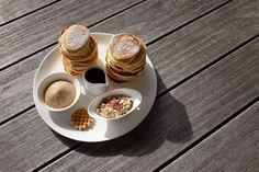 Mini Pfannkuchen mit Ahornsirup - photography - food Ⓒ PASTELPIX