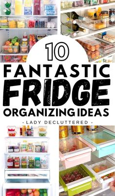 Crammed drawers and forgotten leftovers are a thing of the past. In fact, by implementing a few fridge organization ideas, you can transform your fridge into an organized dream! So the real questions here is what type of fridge organization ideas will work for you and your family? #ladydecluttered #fridgeorganization #fridgeDIY #Fridgeorganizingideas #howtoorganizethefridge #foodorganization #organizingtipforthekitchen Home Organisation Tips, Freezer Organization, Recipe Organization, Organization Hacks, Kitchen Organization, Refrigerator Organization, Declutter Your Mind, Small Fridges, Organizing Your Home