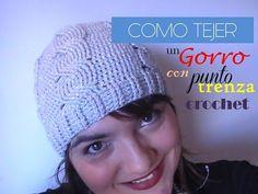DIY Como TEJER a crochet un cuello o bufanda con punto TRENZA ( Diestro) - YouTube