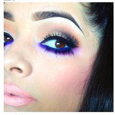 Deep blue and purple eyeshadow