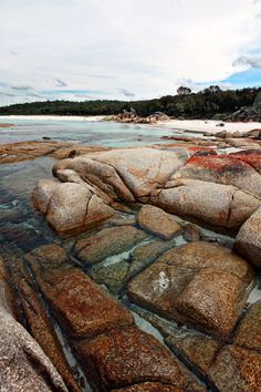 the bay of fires, tasmania via line x shape x colour  photography by: gemma cagnacci